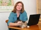NormandaEllenWhyte with Boris the cat smallsmall